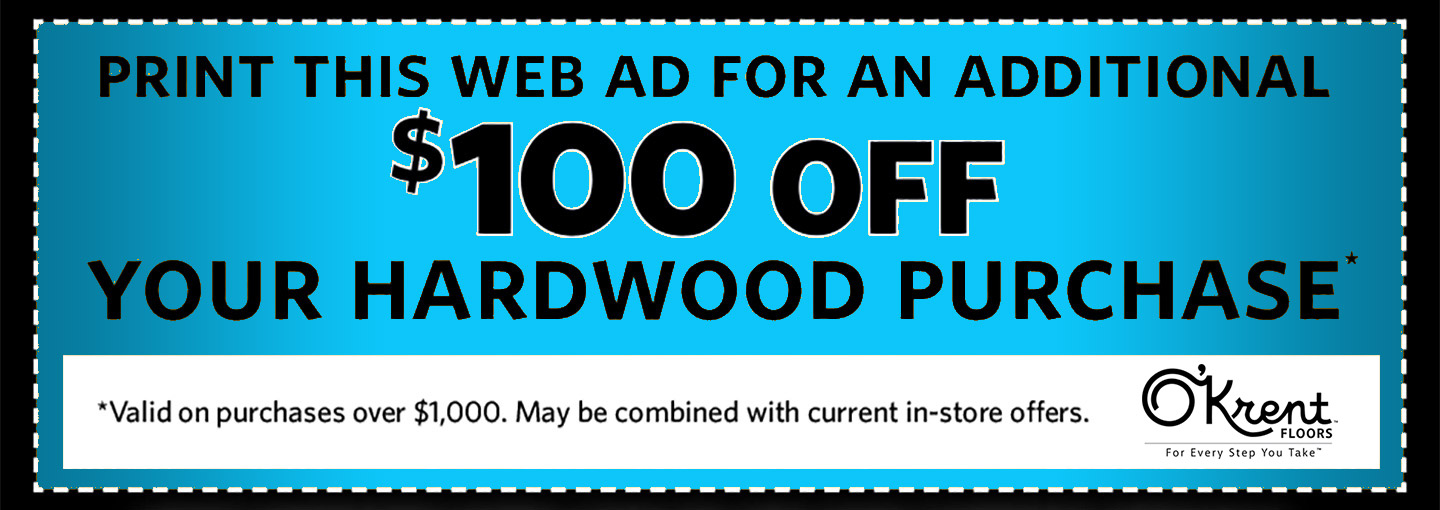 Print this web ad for an additional $100 OFF Your Purchase (Restrictions apply see store for details.)